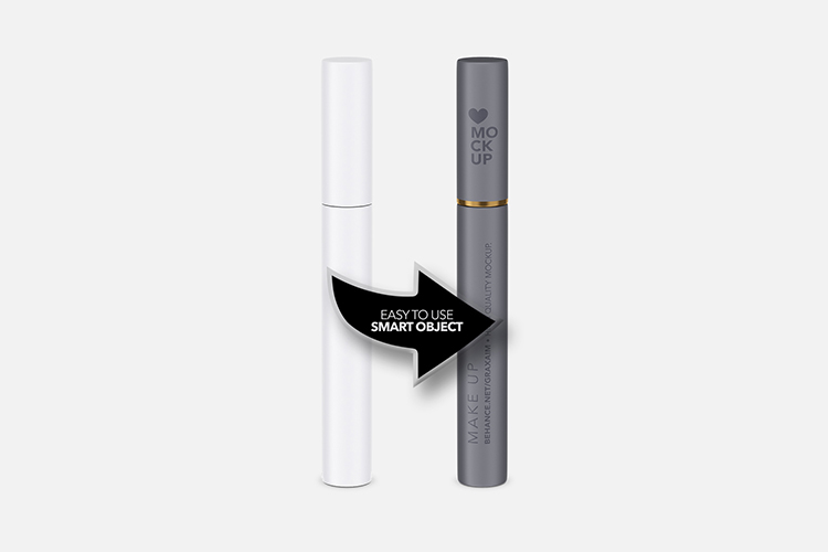 Cosmetics Mockup - Lipstick / Mascara / Eyeliner - Matte example image 3