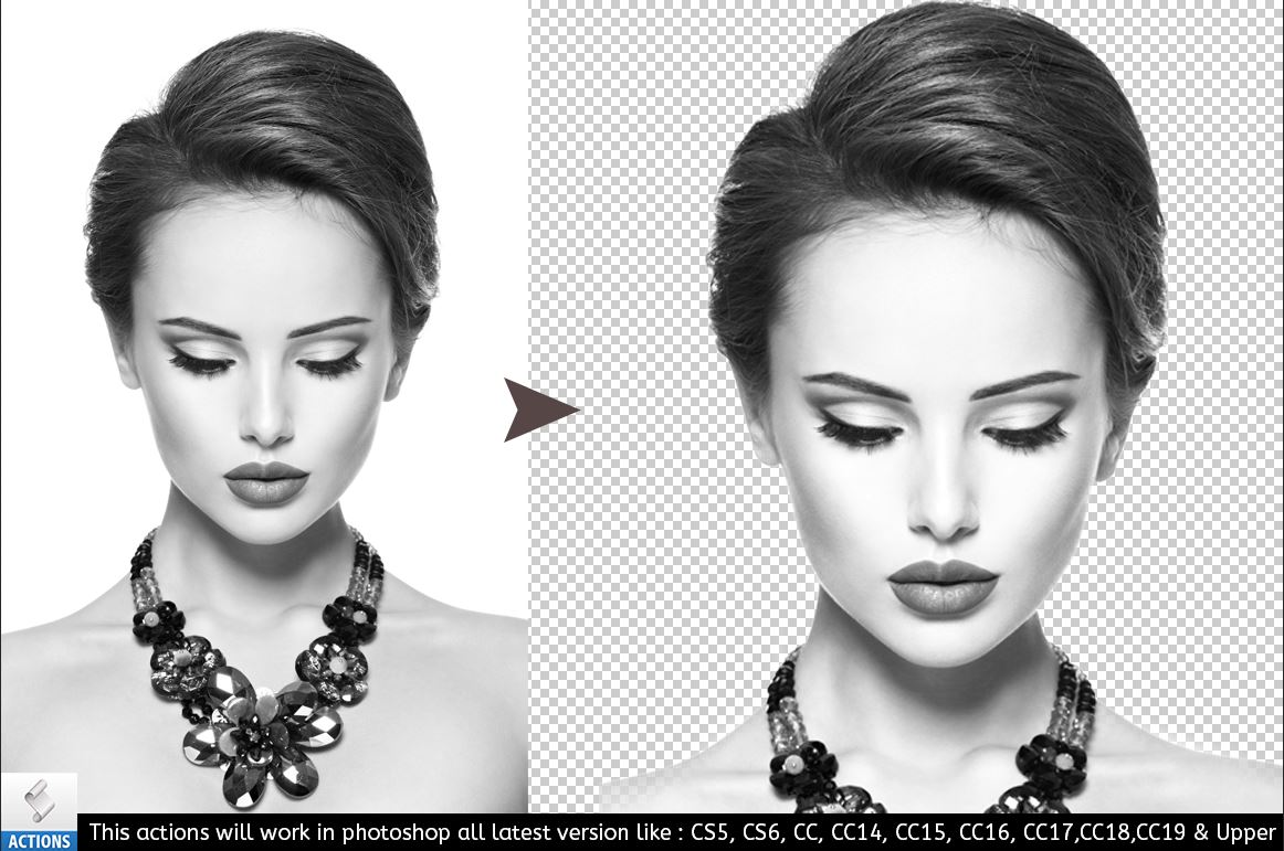 Background Remover Photoshop Action example image 4