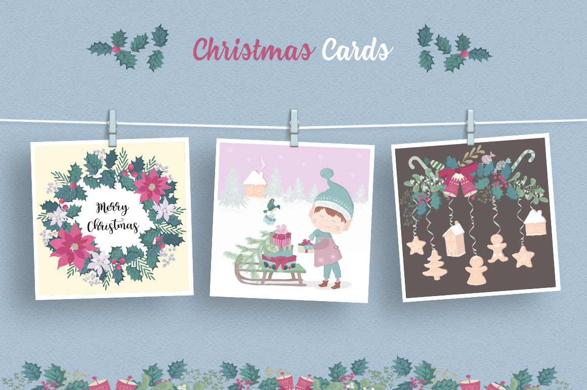 Merry Christmas Illustration Set example image 2