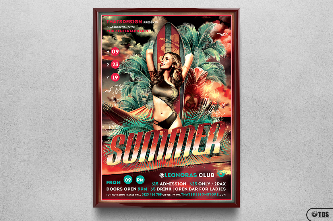 Beach Party Flyer Template V2 example image 6