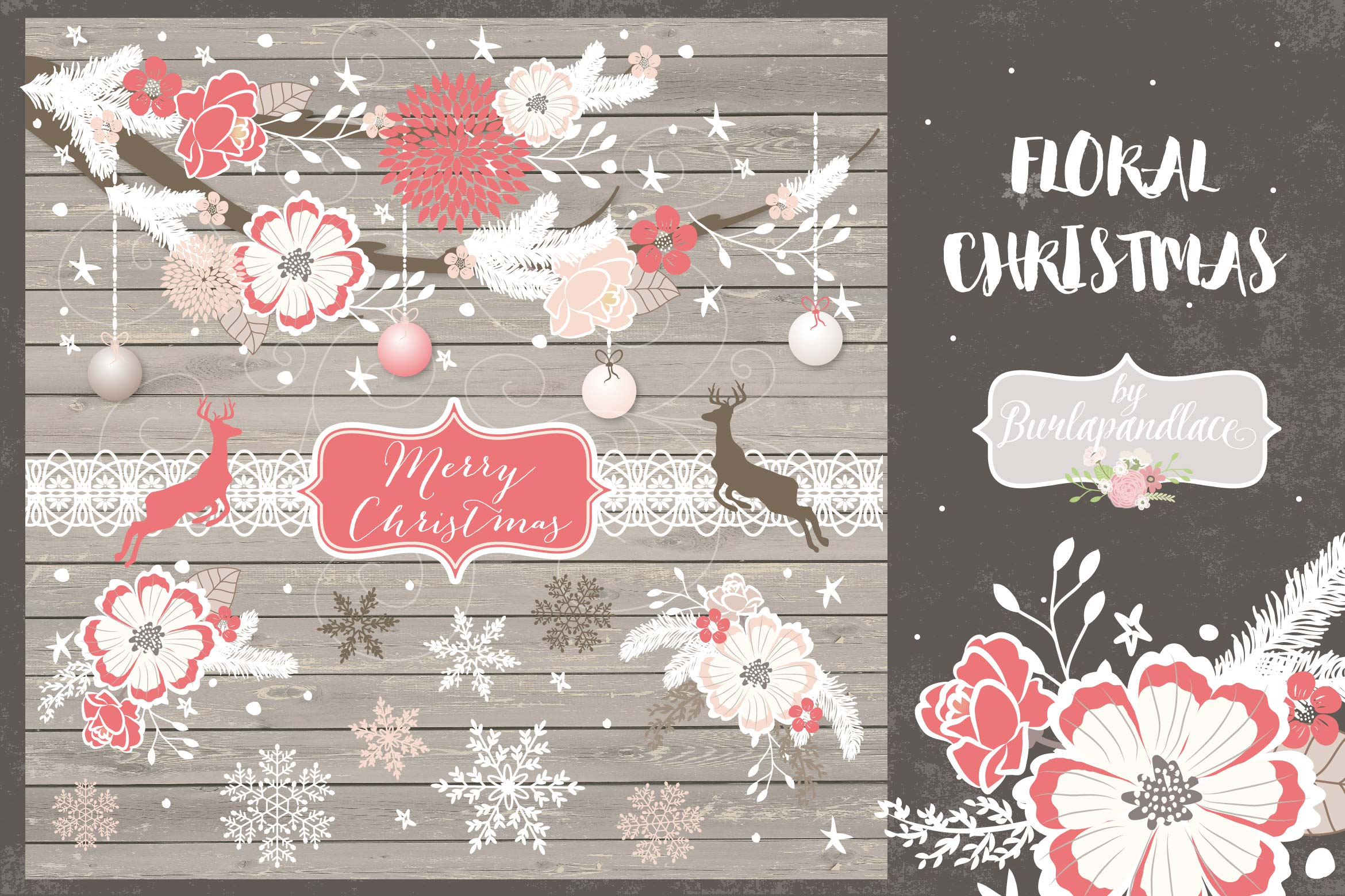 Floral Christmas design example image 1