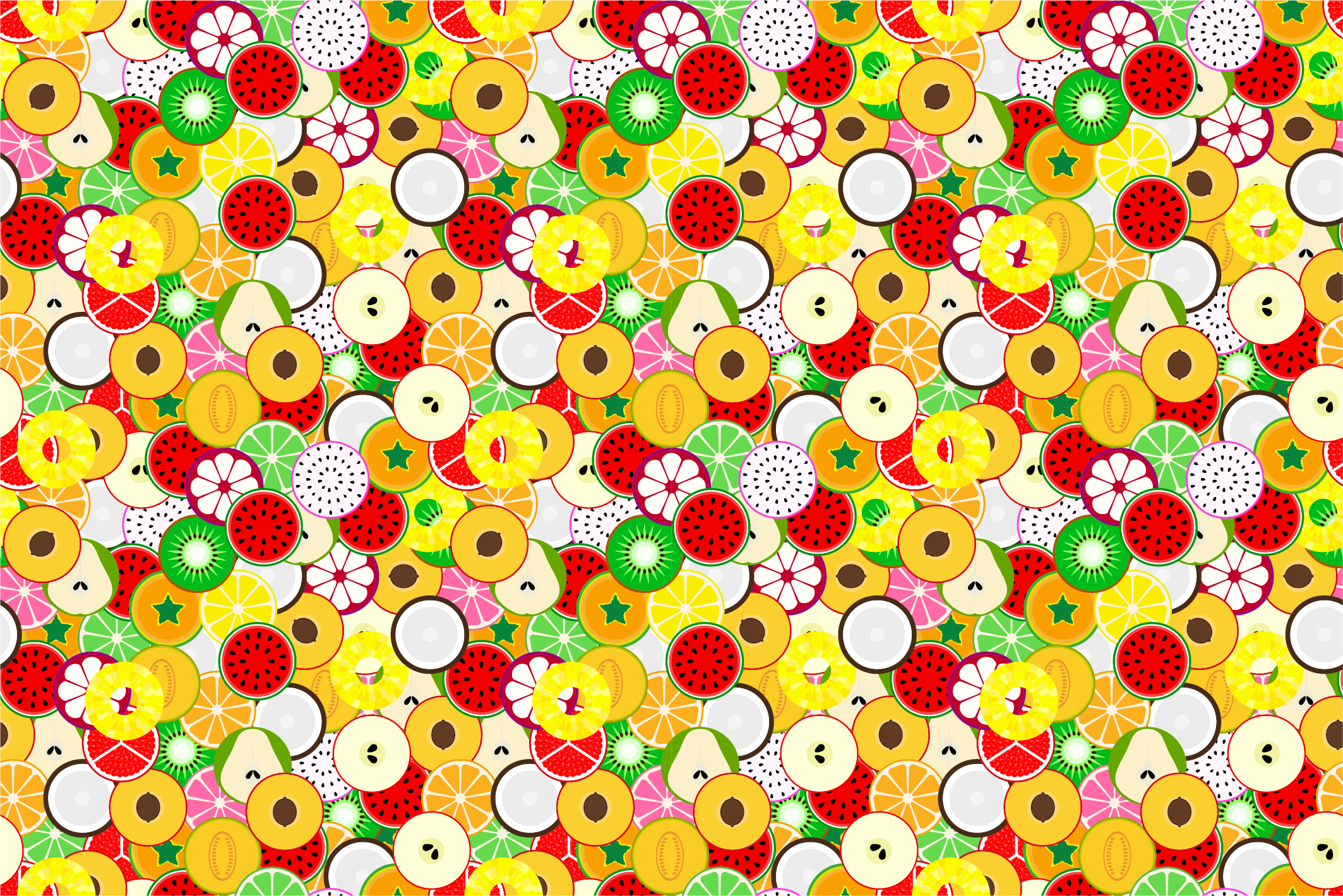 Fruit seamless patterns. Swatches. example image 8