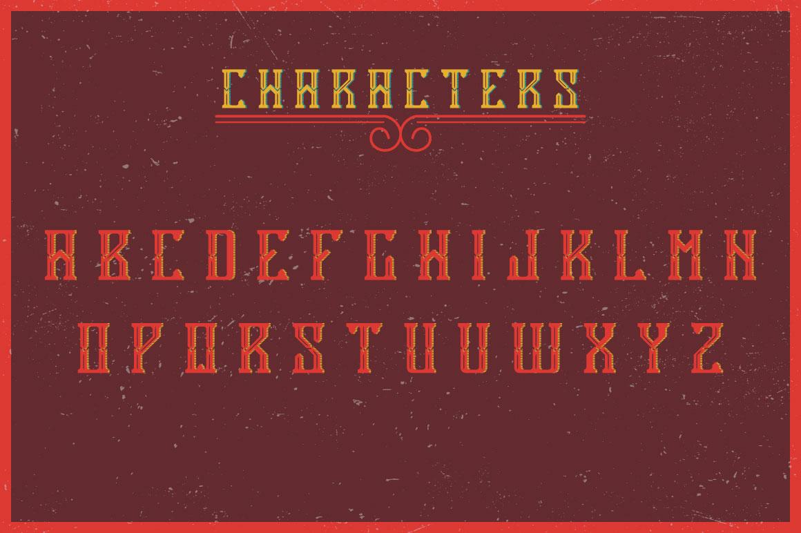 Antiquarian label typeface example image 2