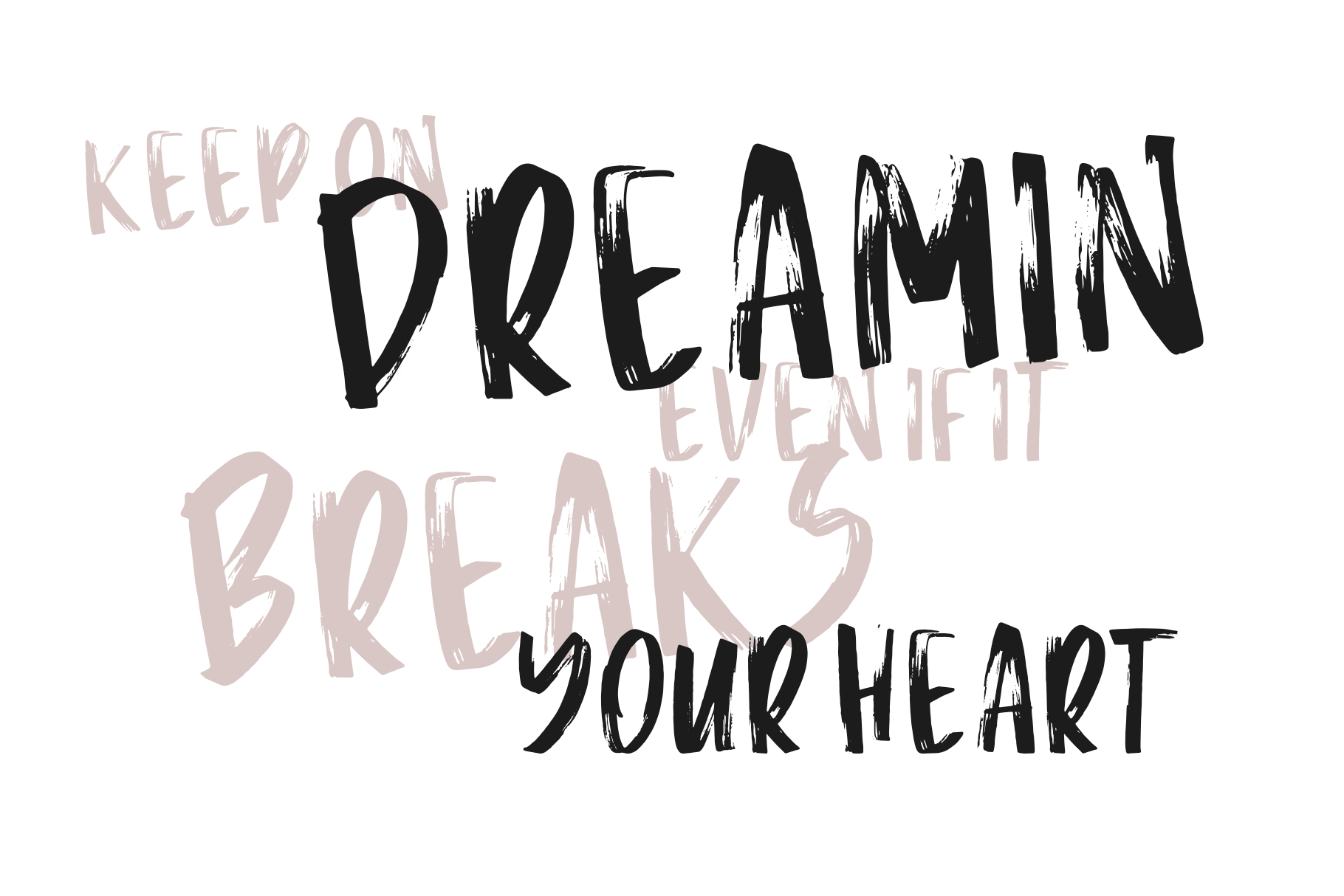 La Vie - A Handwritten Brush Font example image 5
