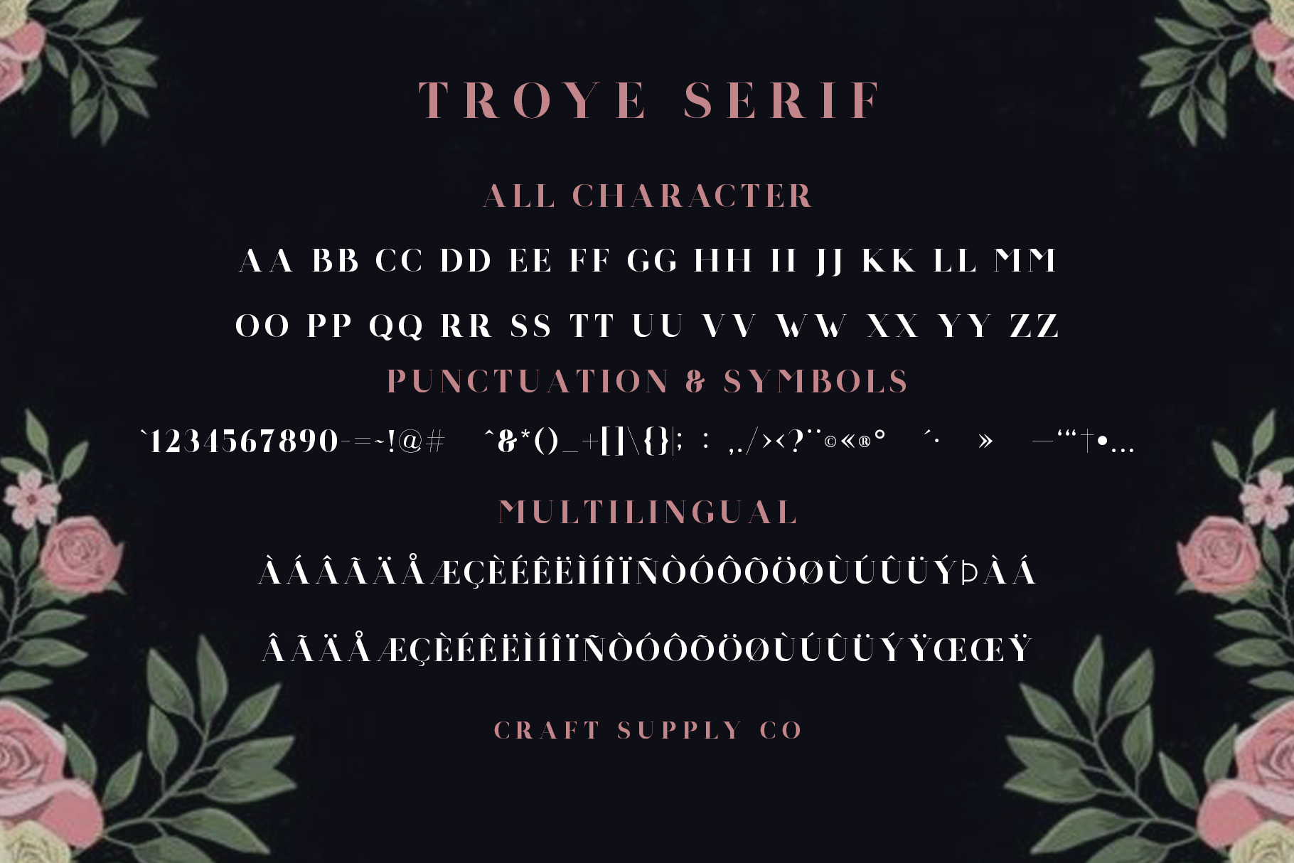 Troye Font Trio example image 10