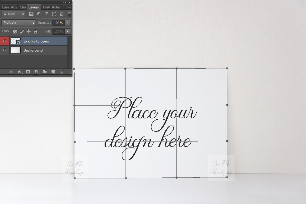 5x7 print mockup Blank photo Card Mock up minimal horizontal example image 3