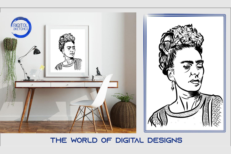 Printable Art Frida Kahlo Wall Art, .PDF Print Poster example image 1