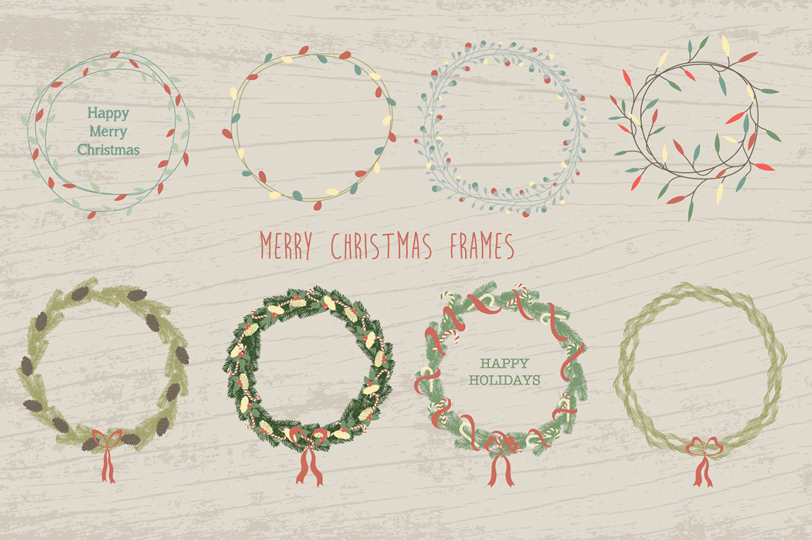 100 Merry Christmas Elements example image 3