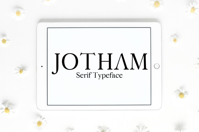 Jotham Serif Typeface example image 1