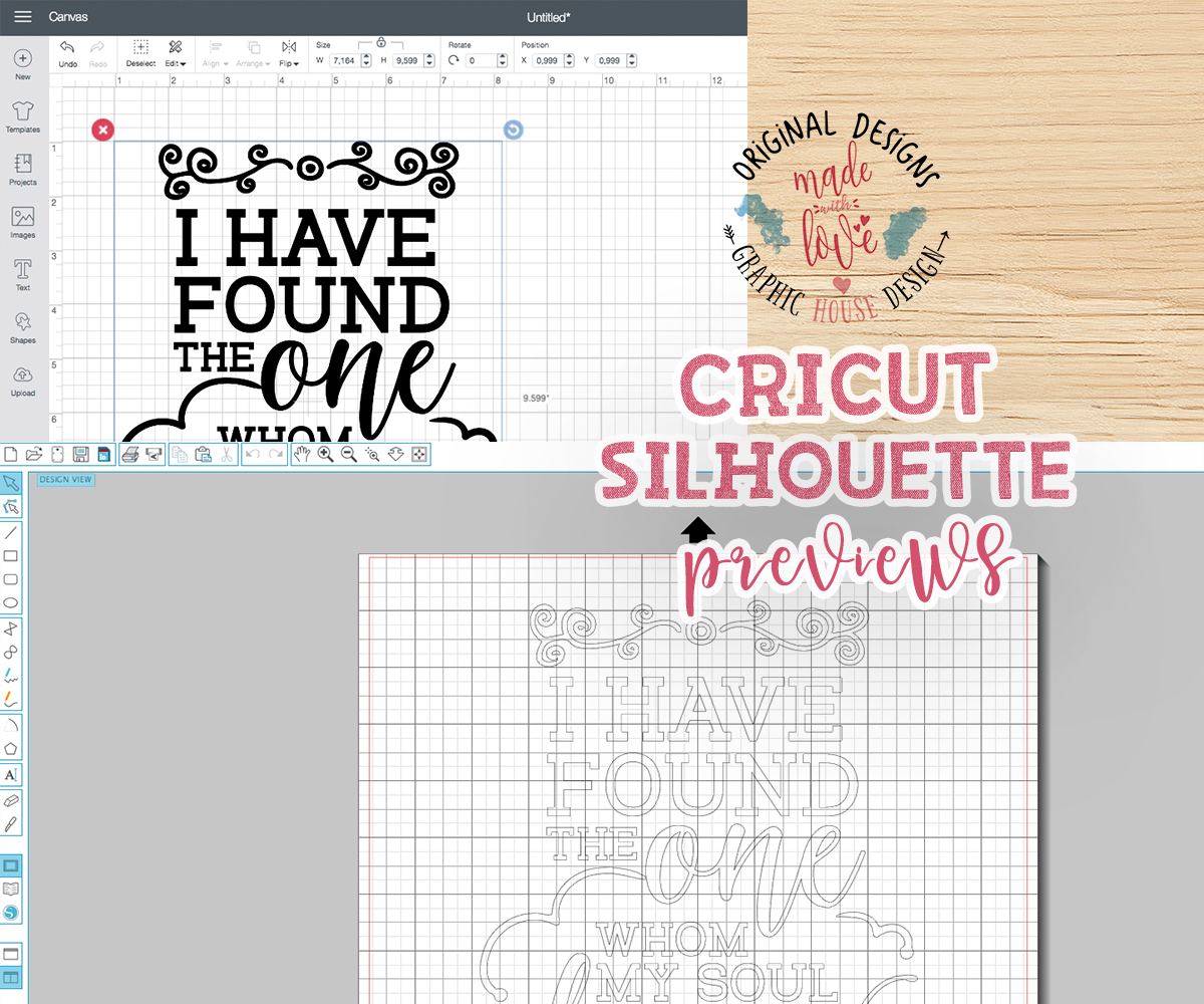 I have found the One whom my soul loves Cutting File (SVG, DXF, PNG) example image 2