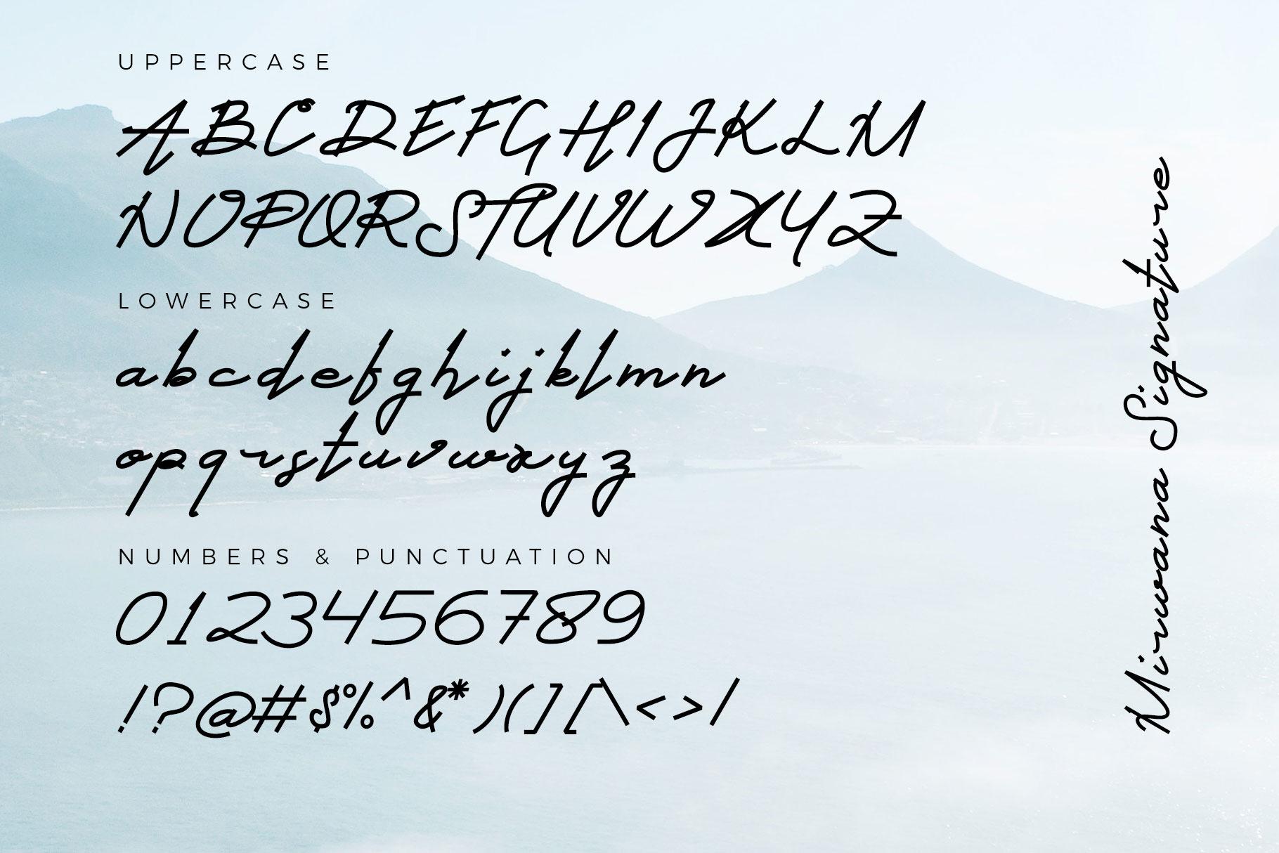 Mirwana Font Duo example image 9