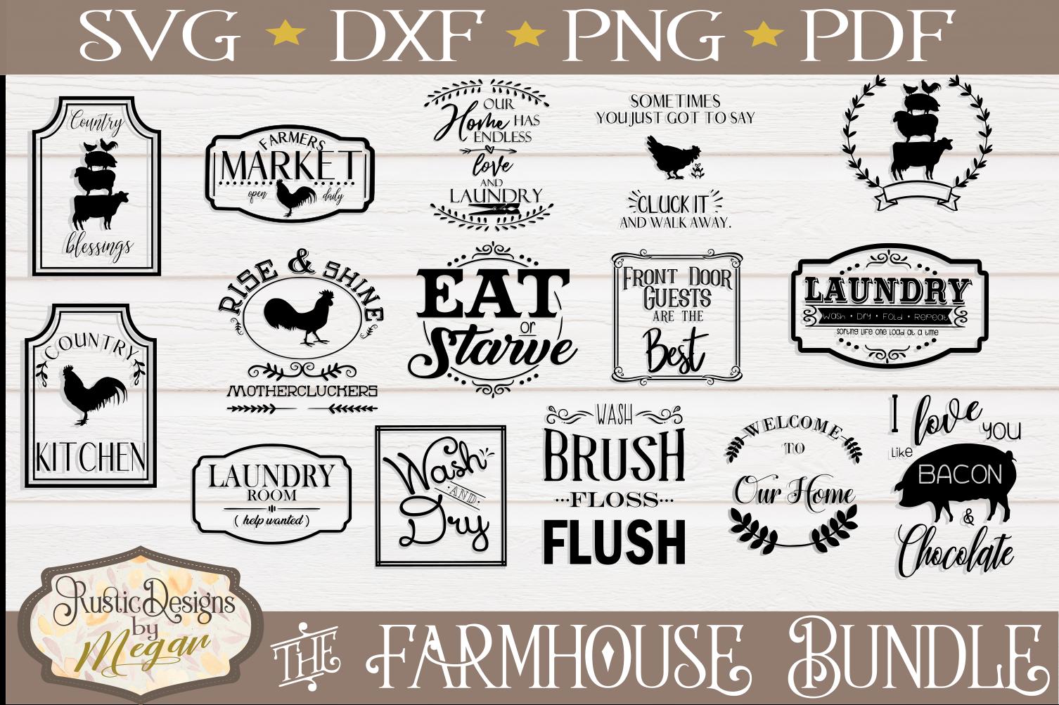 Farmhouse SVG bundle - farmhouse cut files example image 1