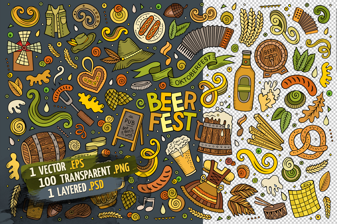 Beer Objects & Elements Set example image 4