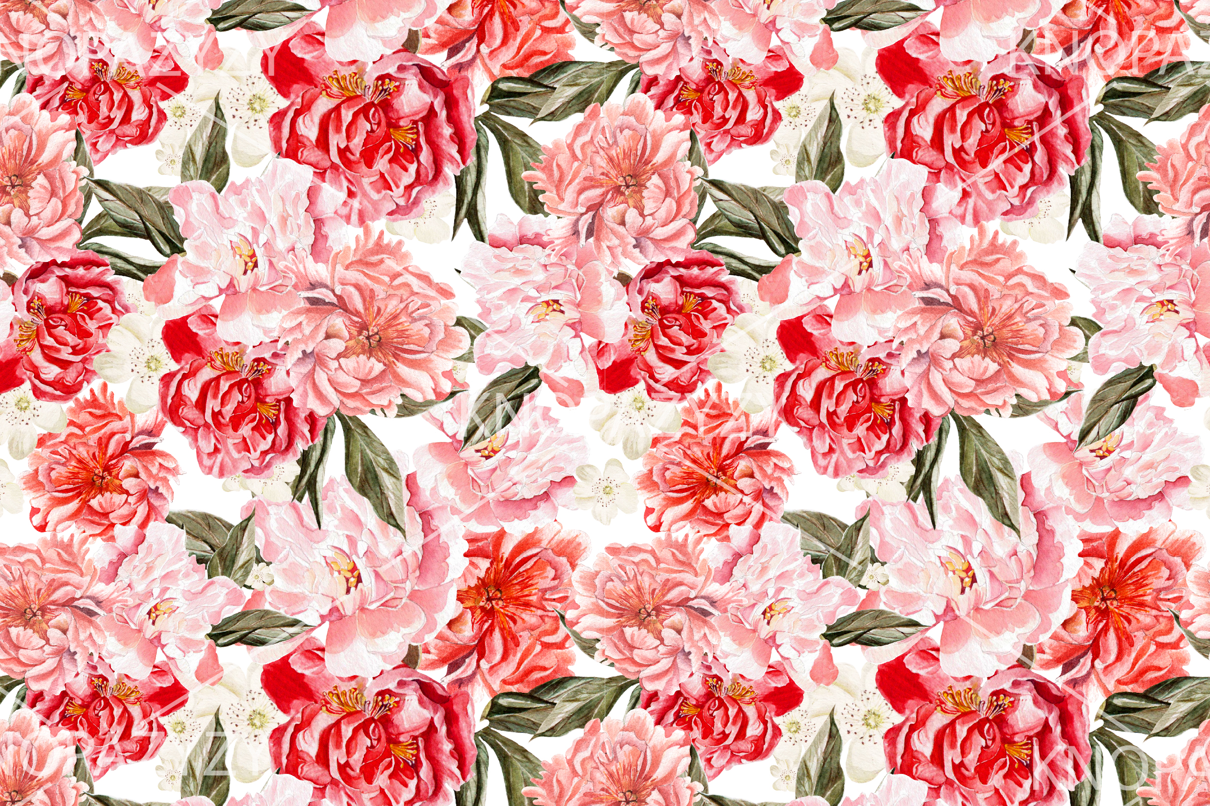 9 Hand Drawn Watercolor PATTERNS example image 5