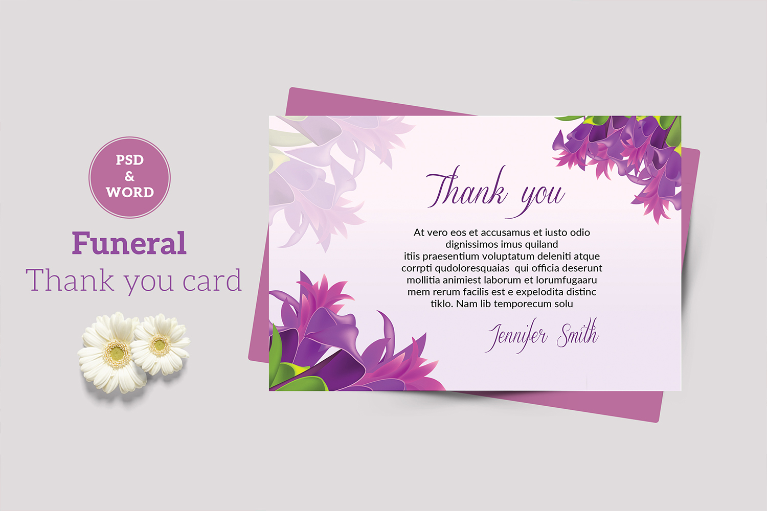 Funeral Thank You Card example image 1