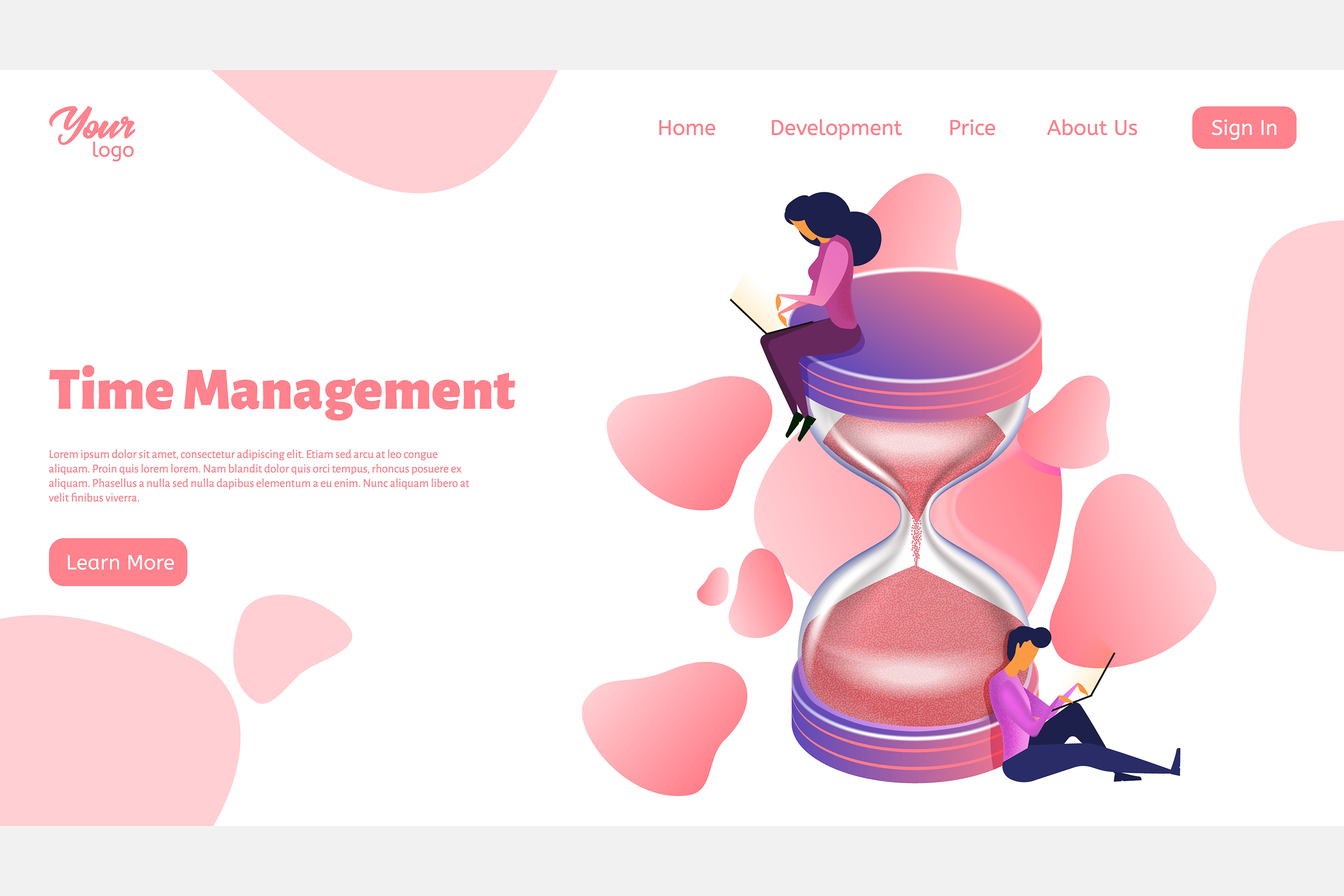 Time management. Landing page headers example image 7