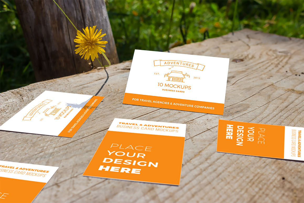 10 Fresh Business Card Mockups vol.2 example image 2