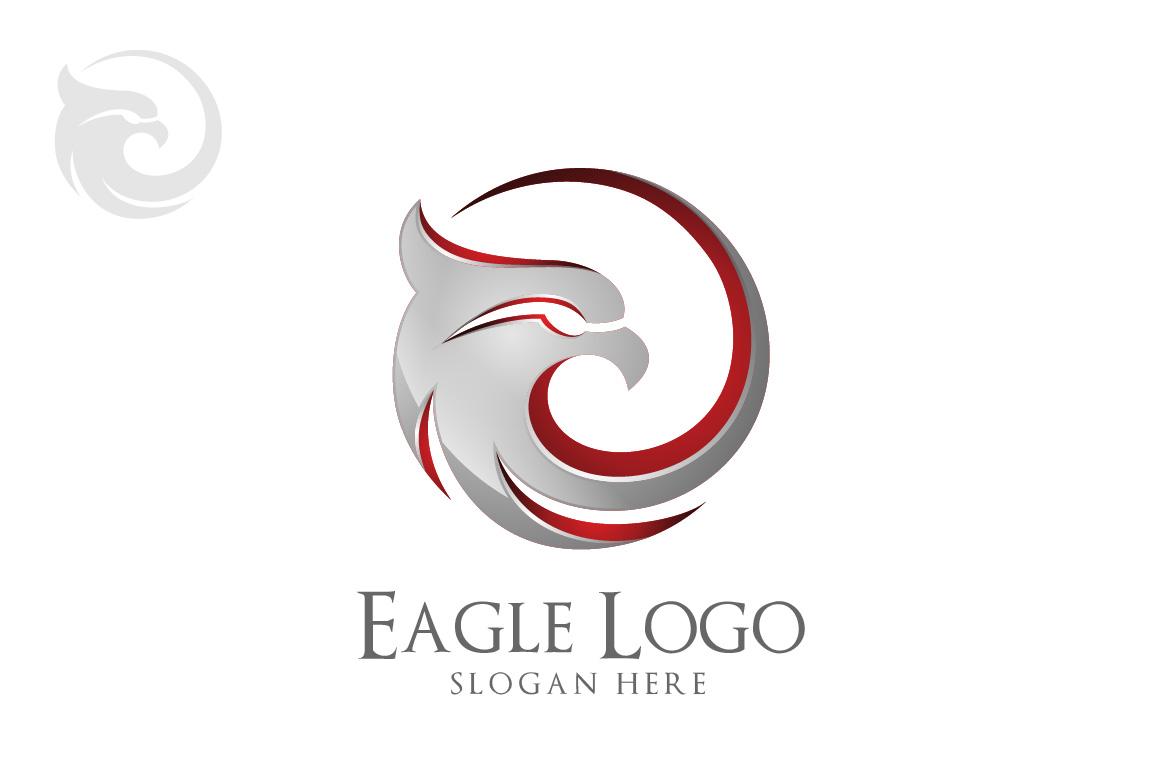 eagle logo in circle hawk phoenix