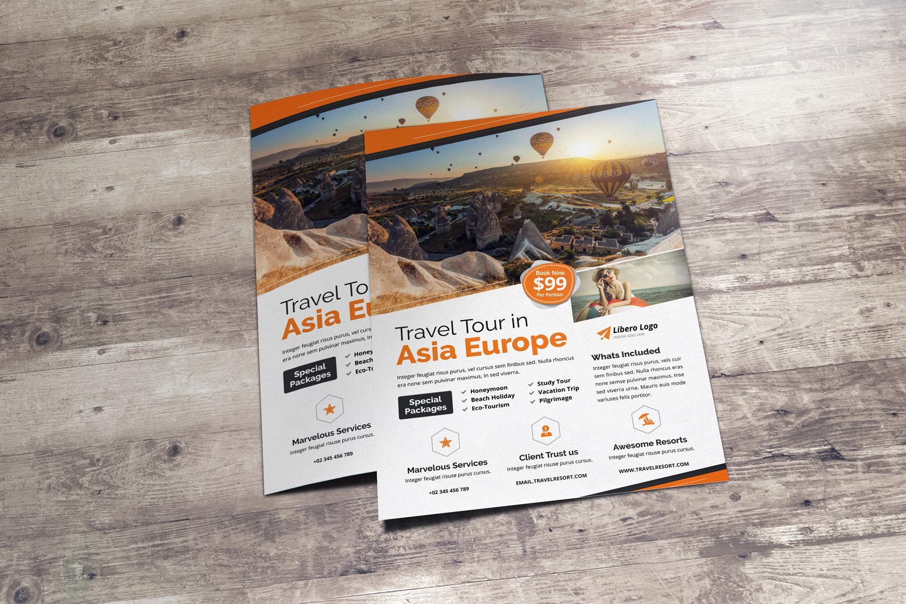 Travel Resort Flyer Design v2 example image 7