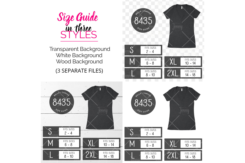 Bella Canvas 8435 Tshirt Size Chart Mockup example image 2
