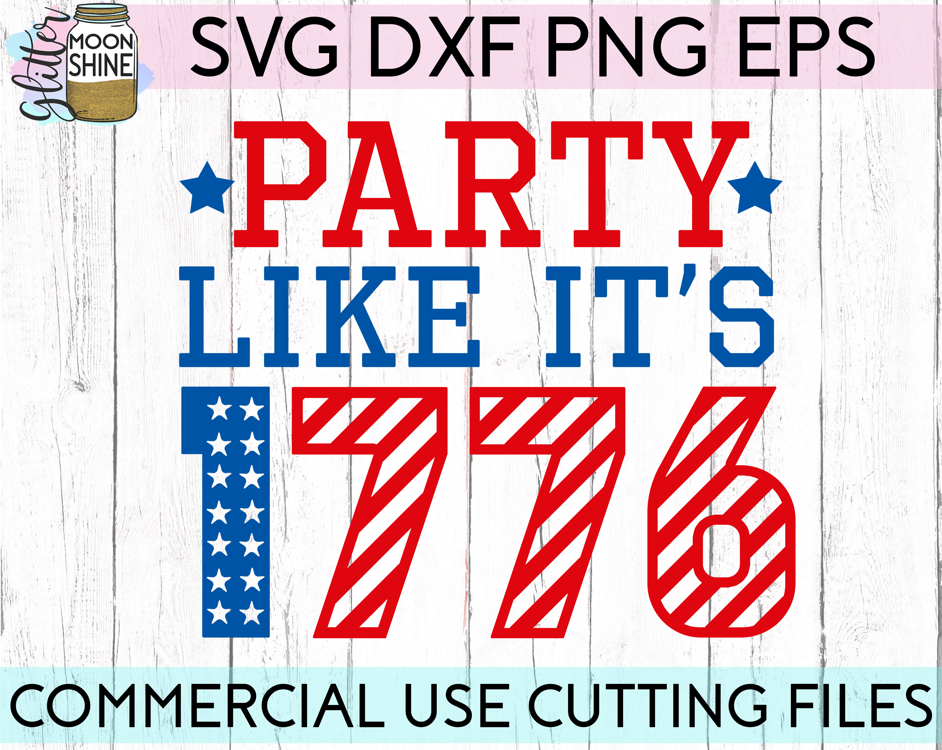 Huge 4th Of July Design Bundle of 23 SVG DXF PNG EPS Cutting Files example image 16