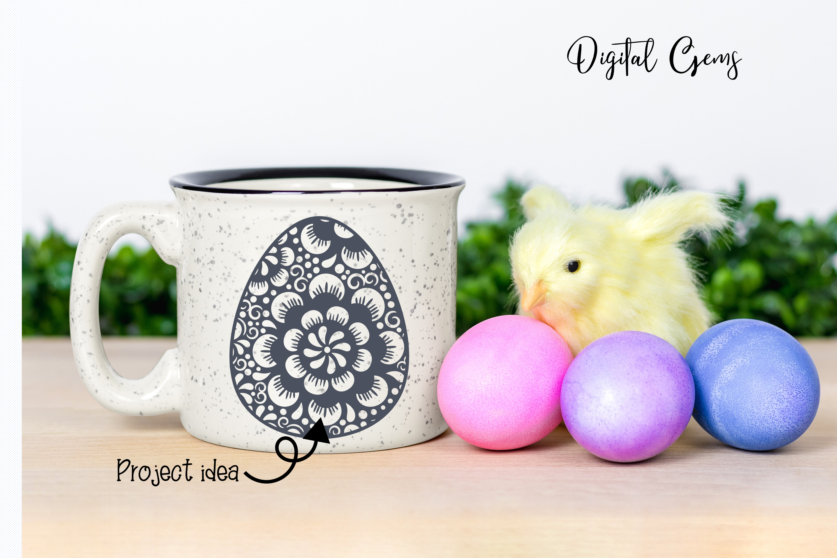 Easter egg SVG / DXF / EPS / PNG files example image 3