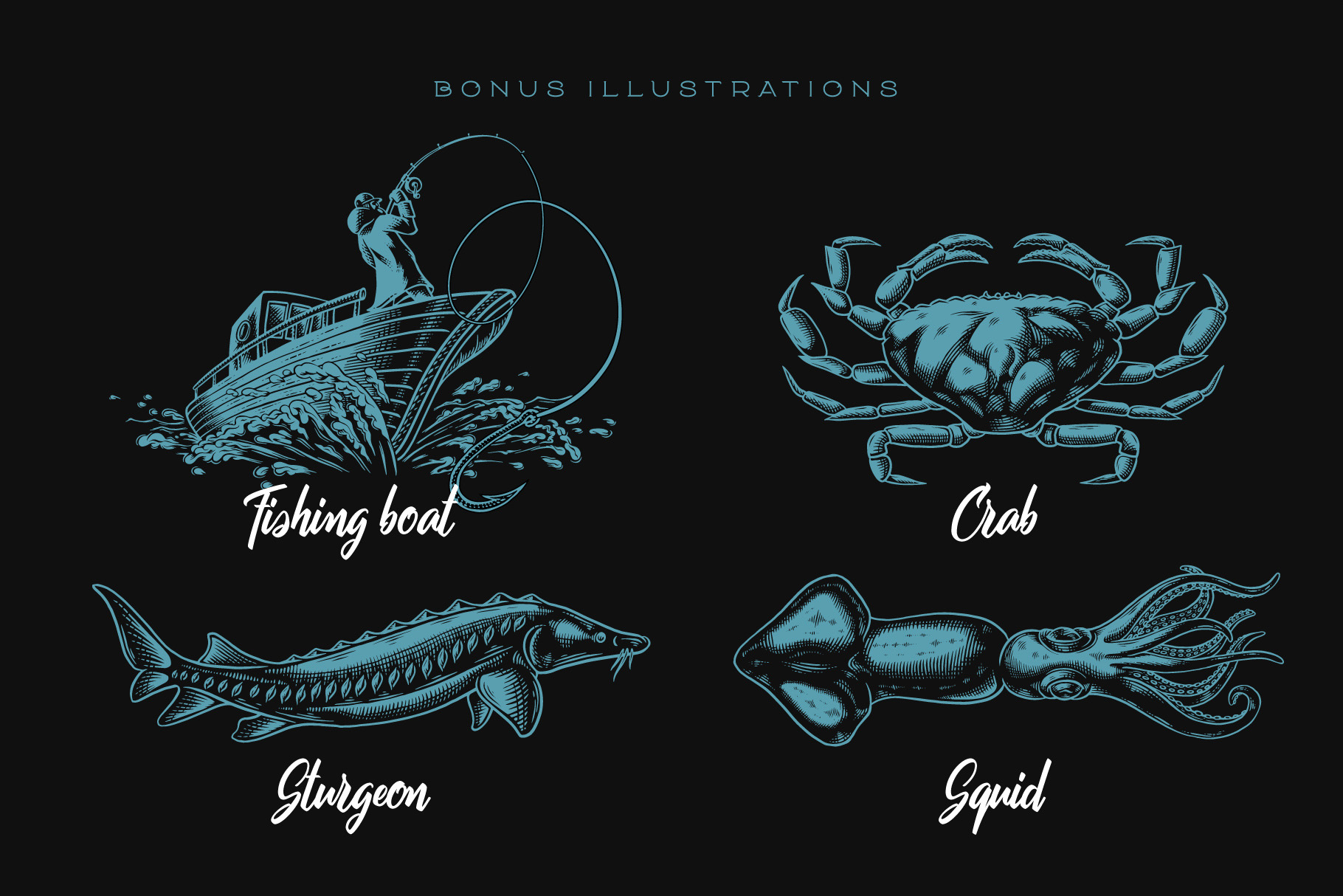 Squidink font & graphics example image 3