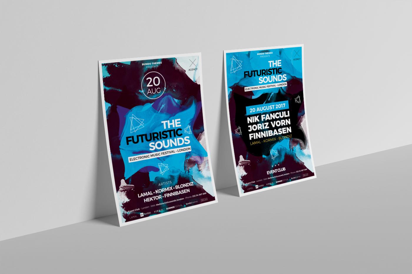 The Futuristic Festival Flyer Template example image 2