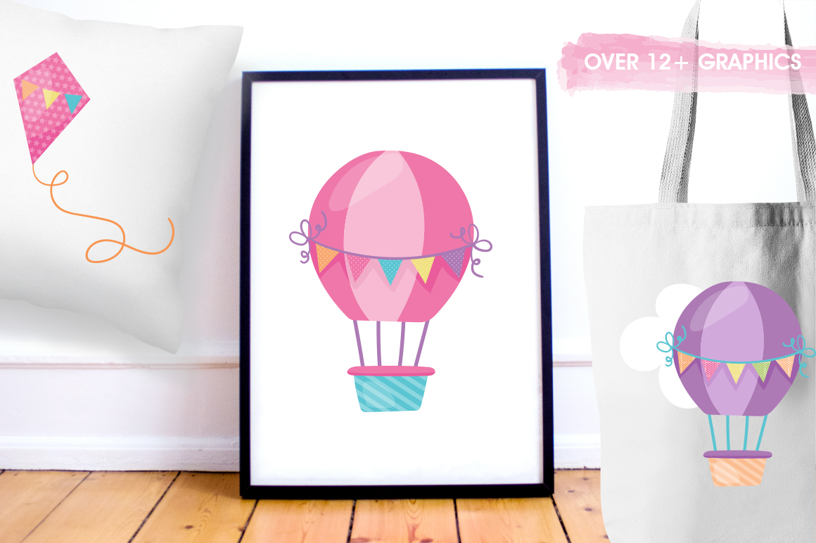 Hot Air Balloon graphic and illustrations example image 4