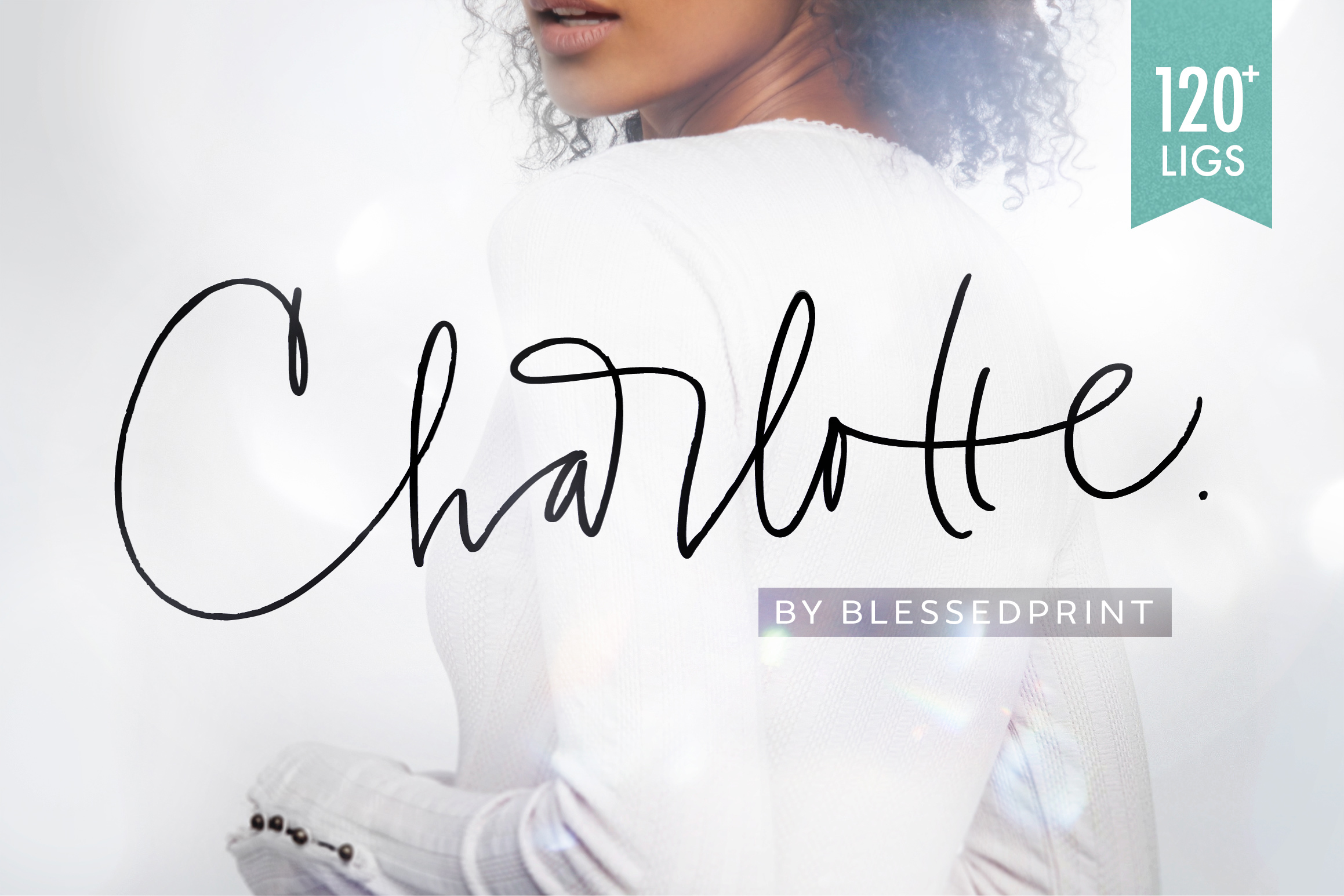 Charlotte Script with 120 ligatures example image 1