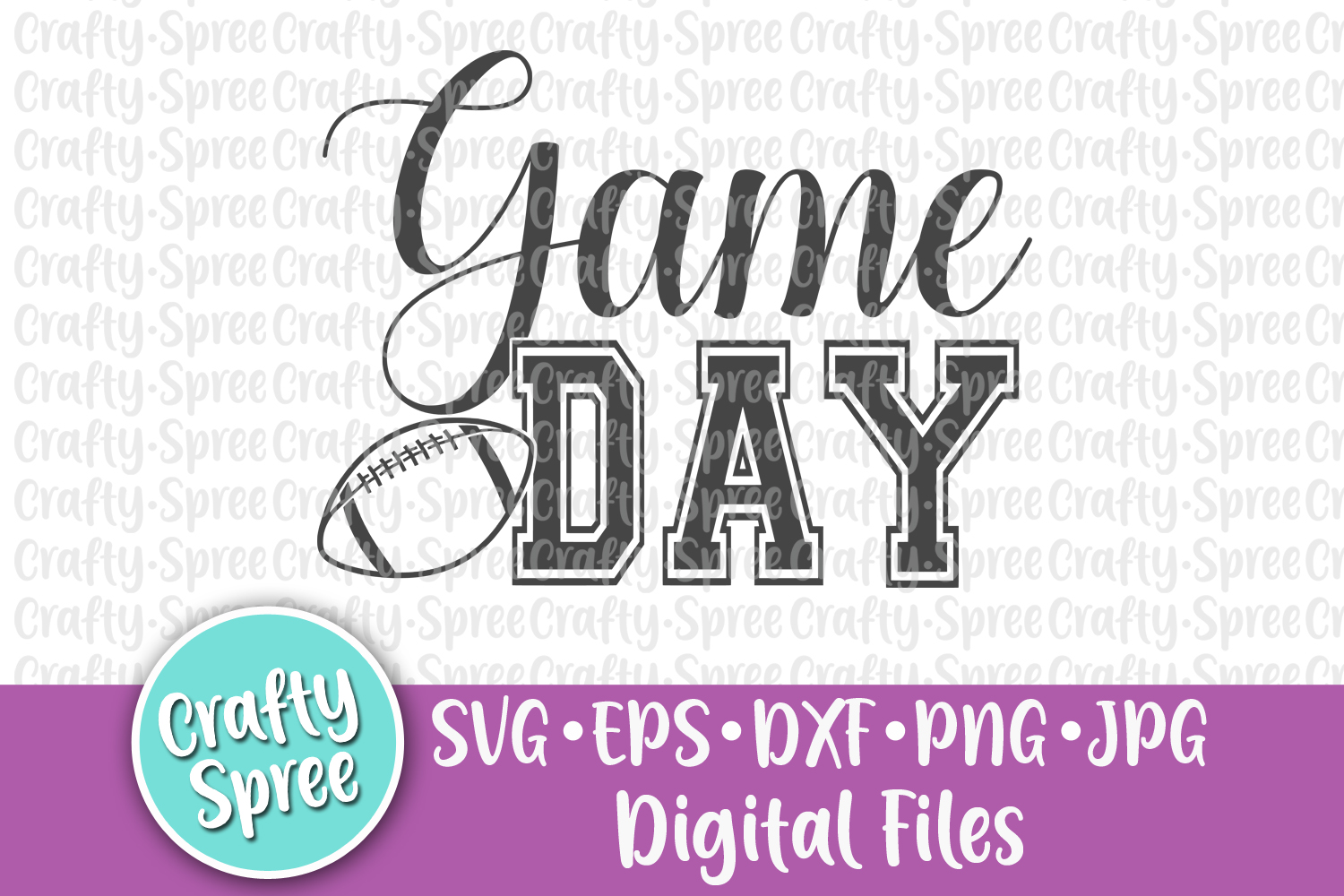 Football Game Day Bundle SVG DXF Design File Sublimation example image 5