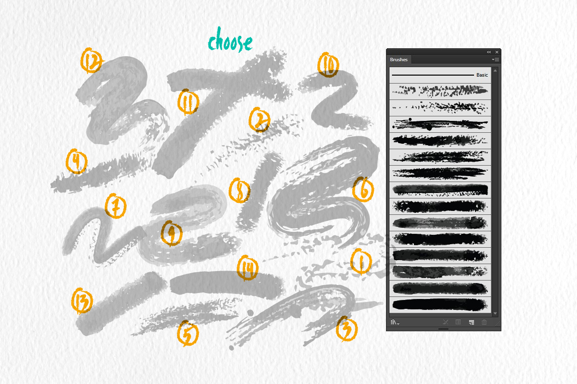 Old Brushes for Illustrator example image 2
