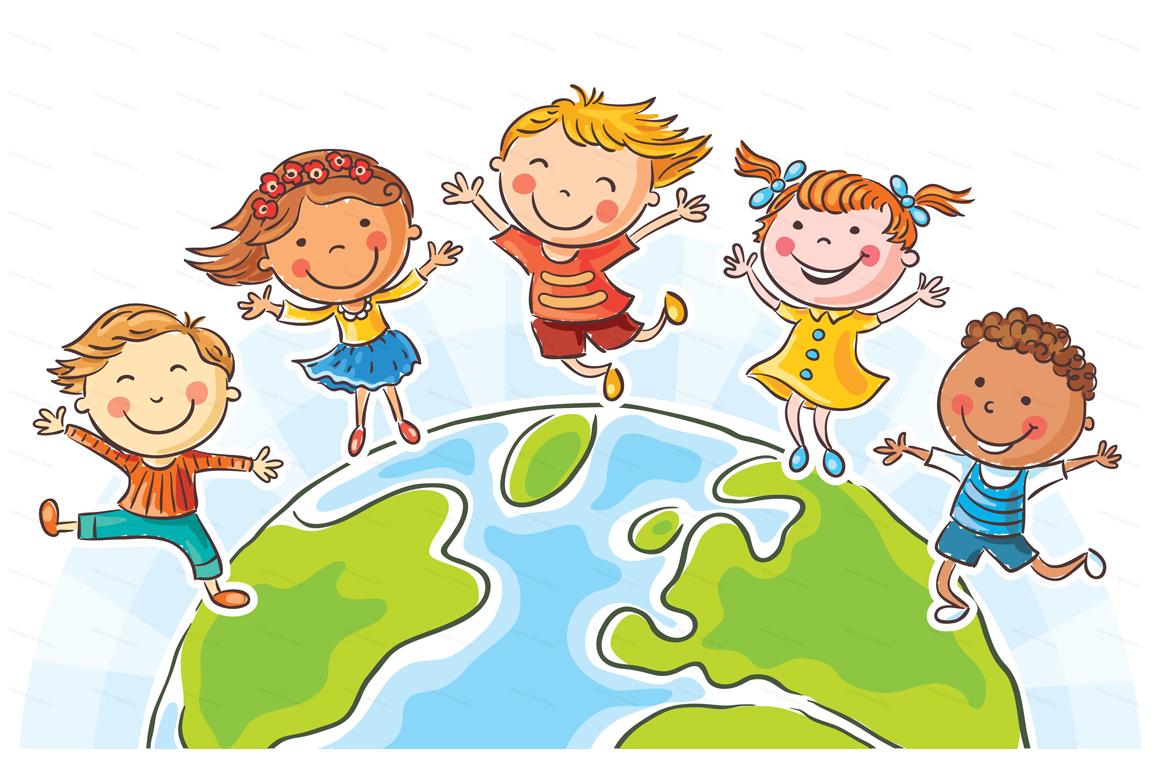 Happy Cartoon Kids Bundle, children doodle, kids doodle example image 6