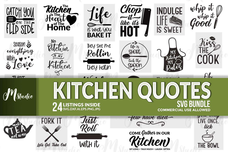 Kitchen Quotes svg bundle example image 1