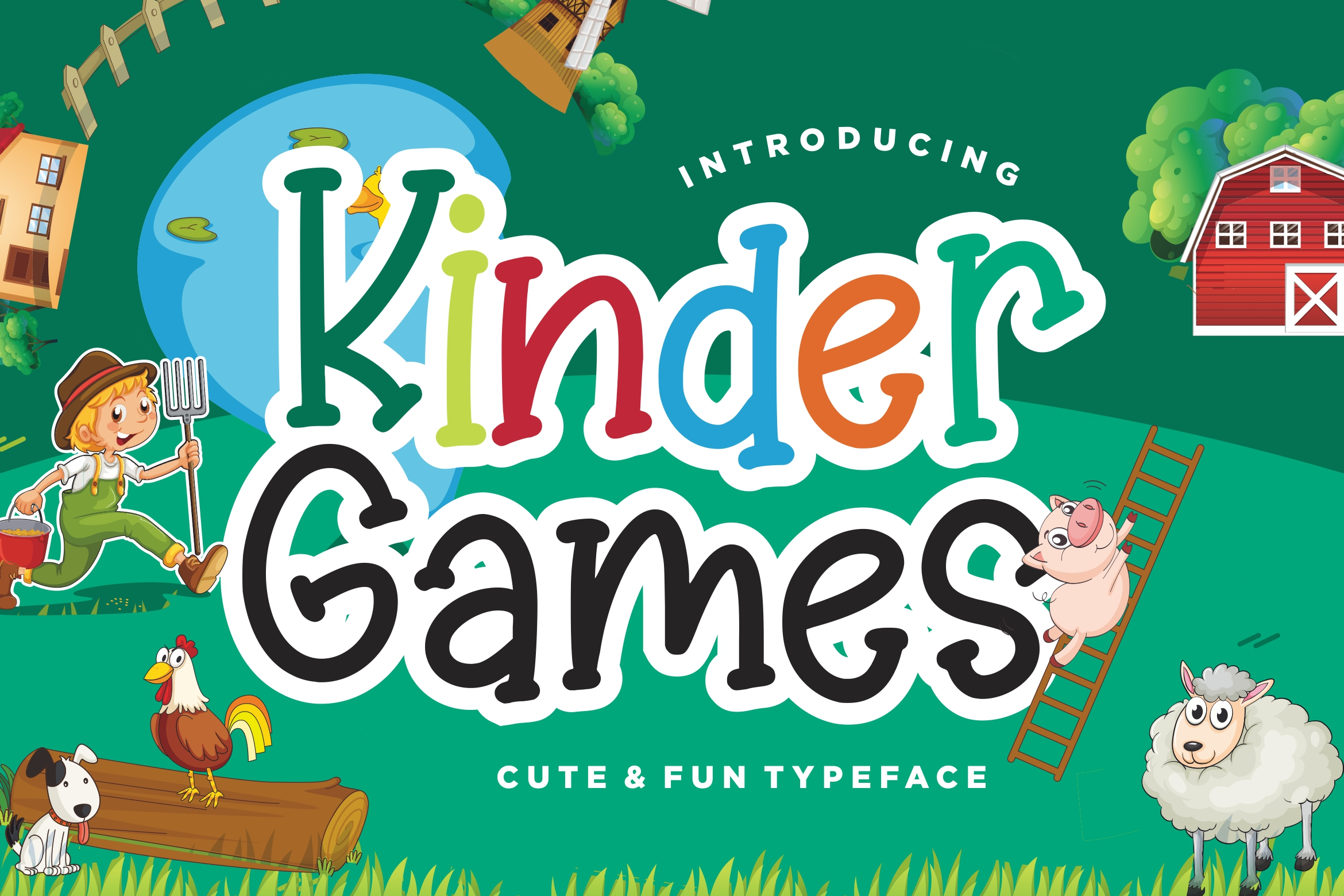 Kinder Games Cute & Fun Typeface example image 1