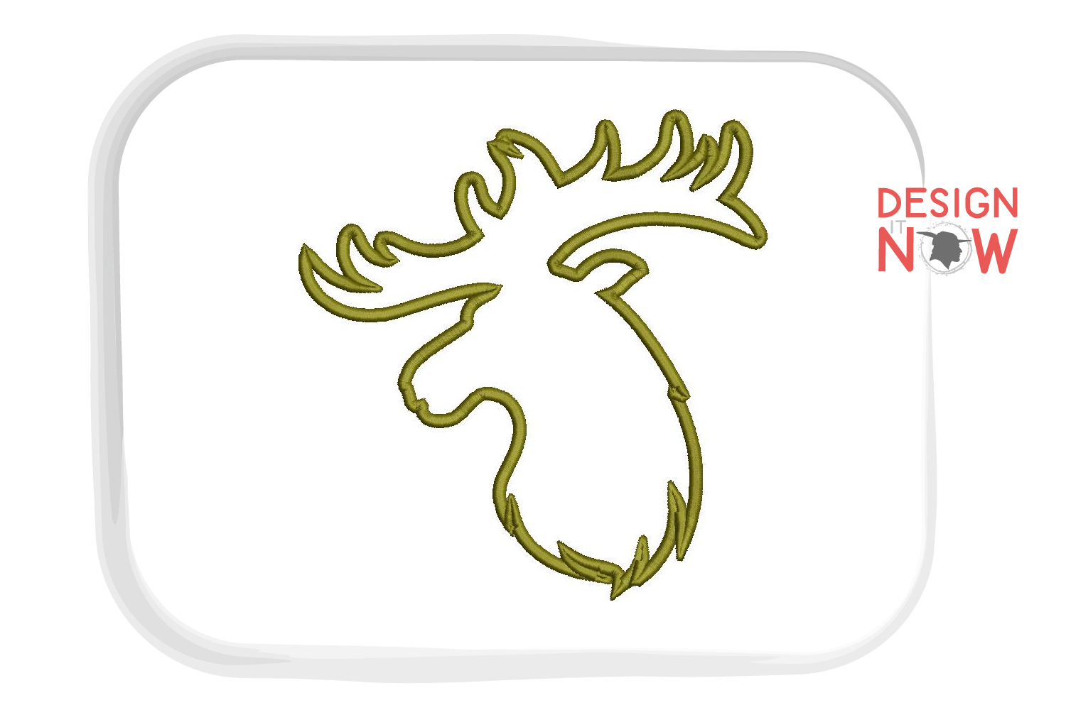 Deer Applique Embroidery Design, Wild Embroidery Art example image 2