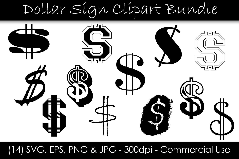 Dollar Sign SVG Bundle - Dollar Sign Clip Art example image 1