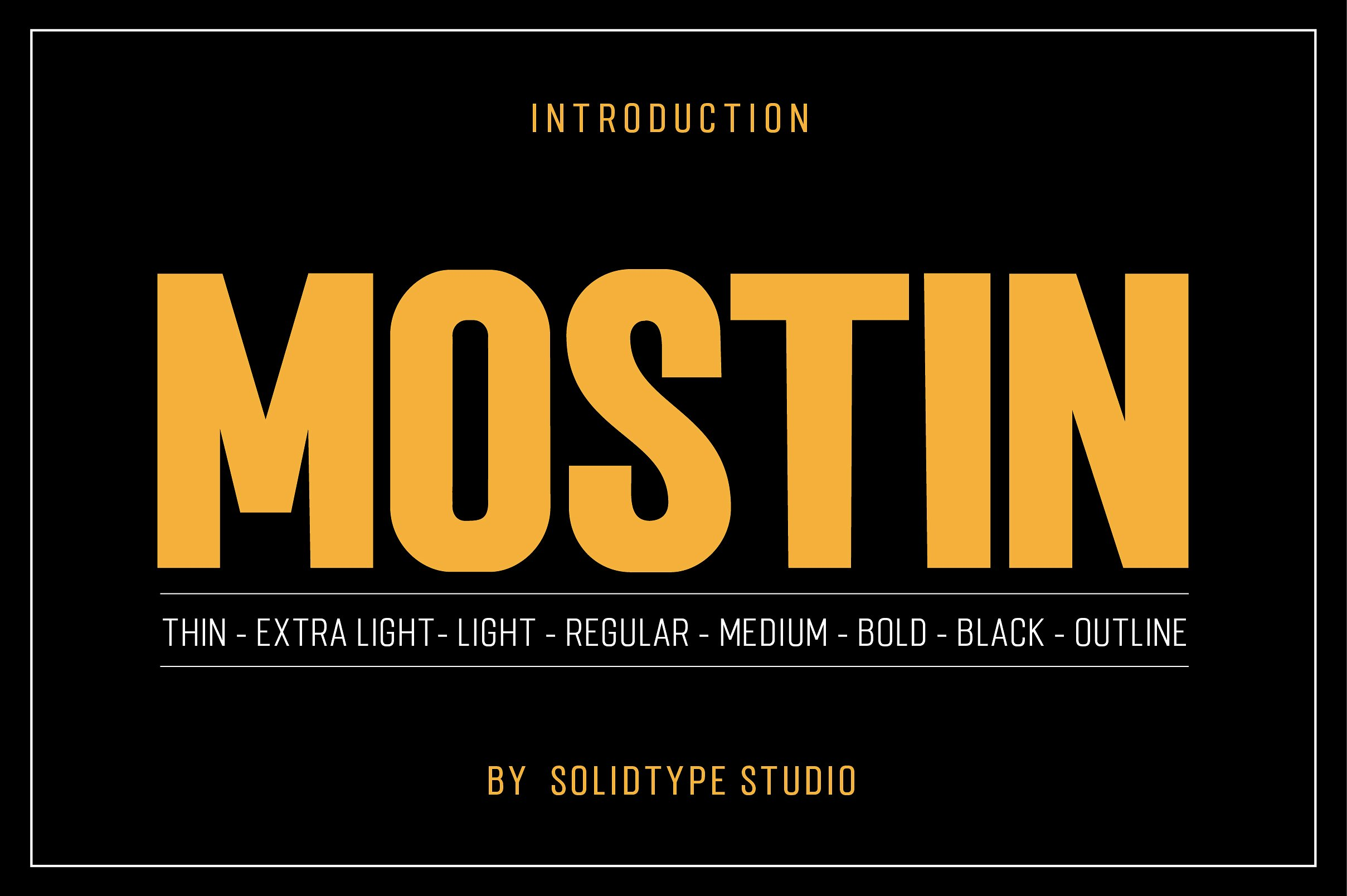 Mostin Typeface example image 1