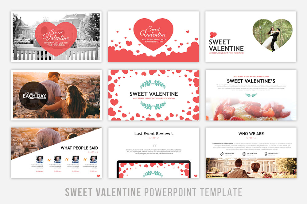 Sweet Valentine Powerpoint Template example image 2