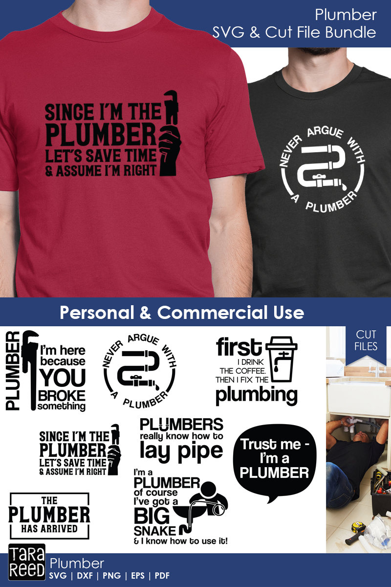 Plumber SVG and Cut Files for Crafters example image 3