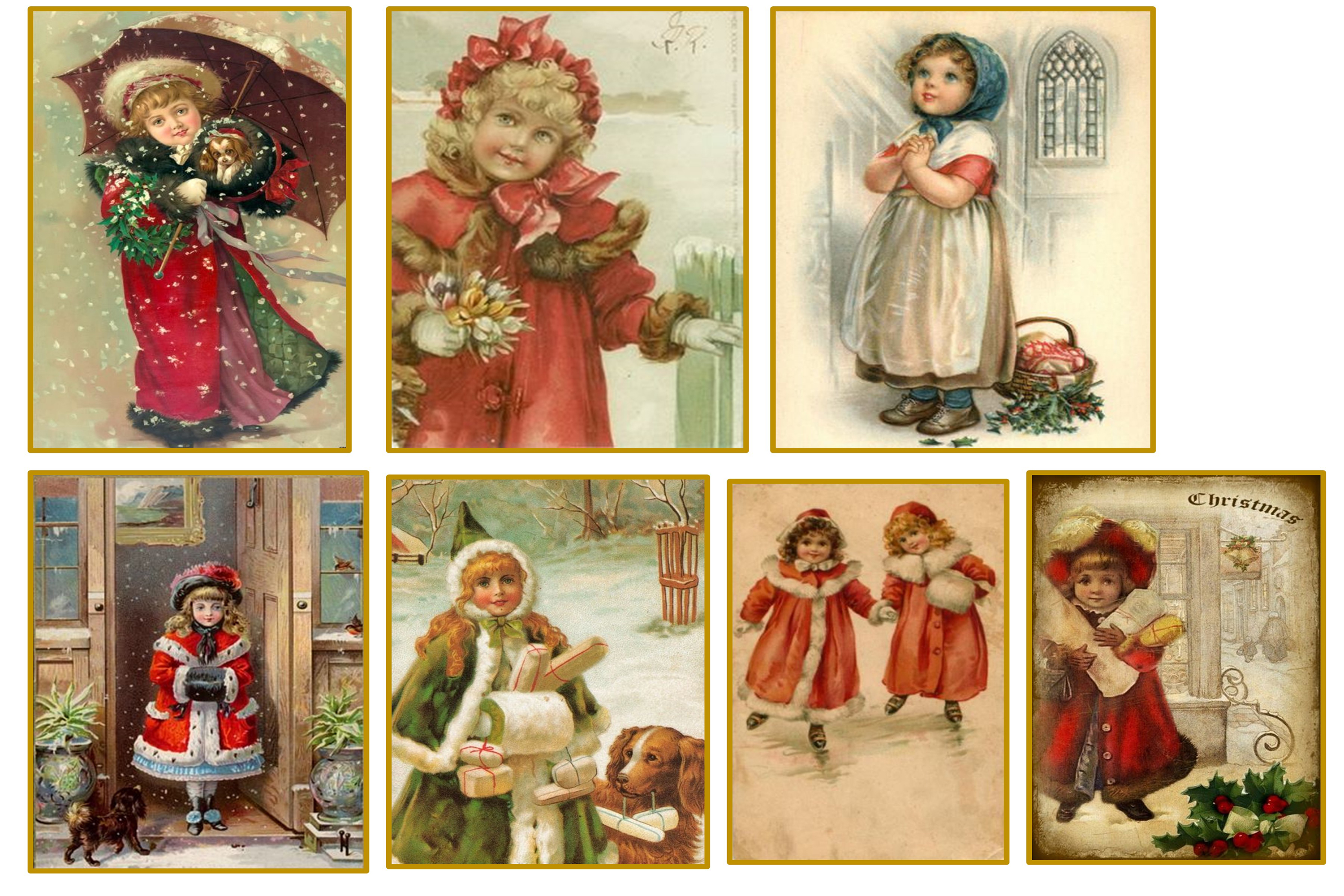 Country Christmas Backgrounds with FREE Ephemera and Clipart example image 5