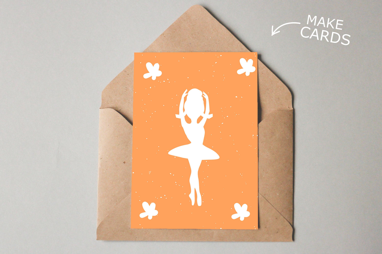 Ballerina Bundle SVG DXF EPS PNG example image 4