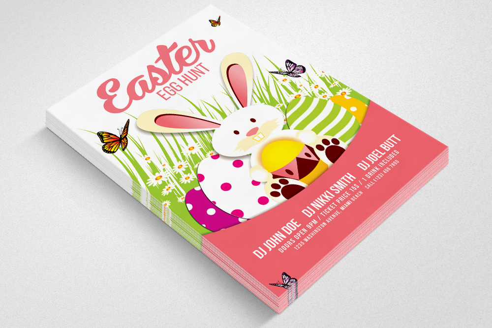 Egg Hunt Easter Flyer Print Template example image 3