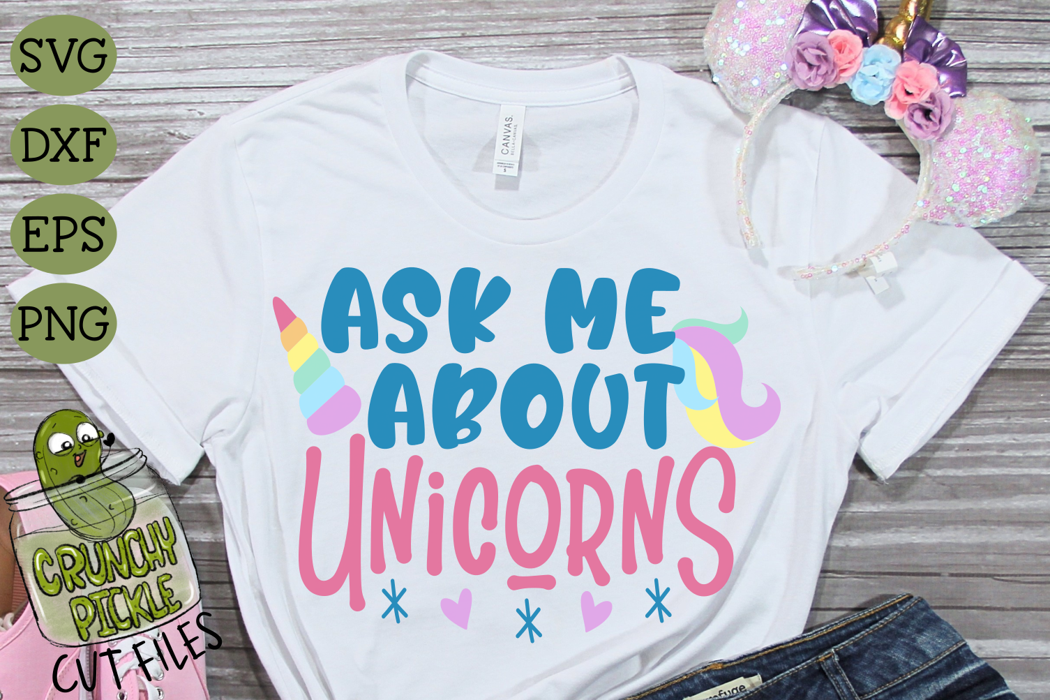 Ask Me About Unicorns SVG example image 1