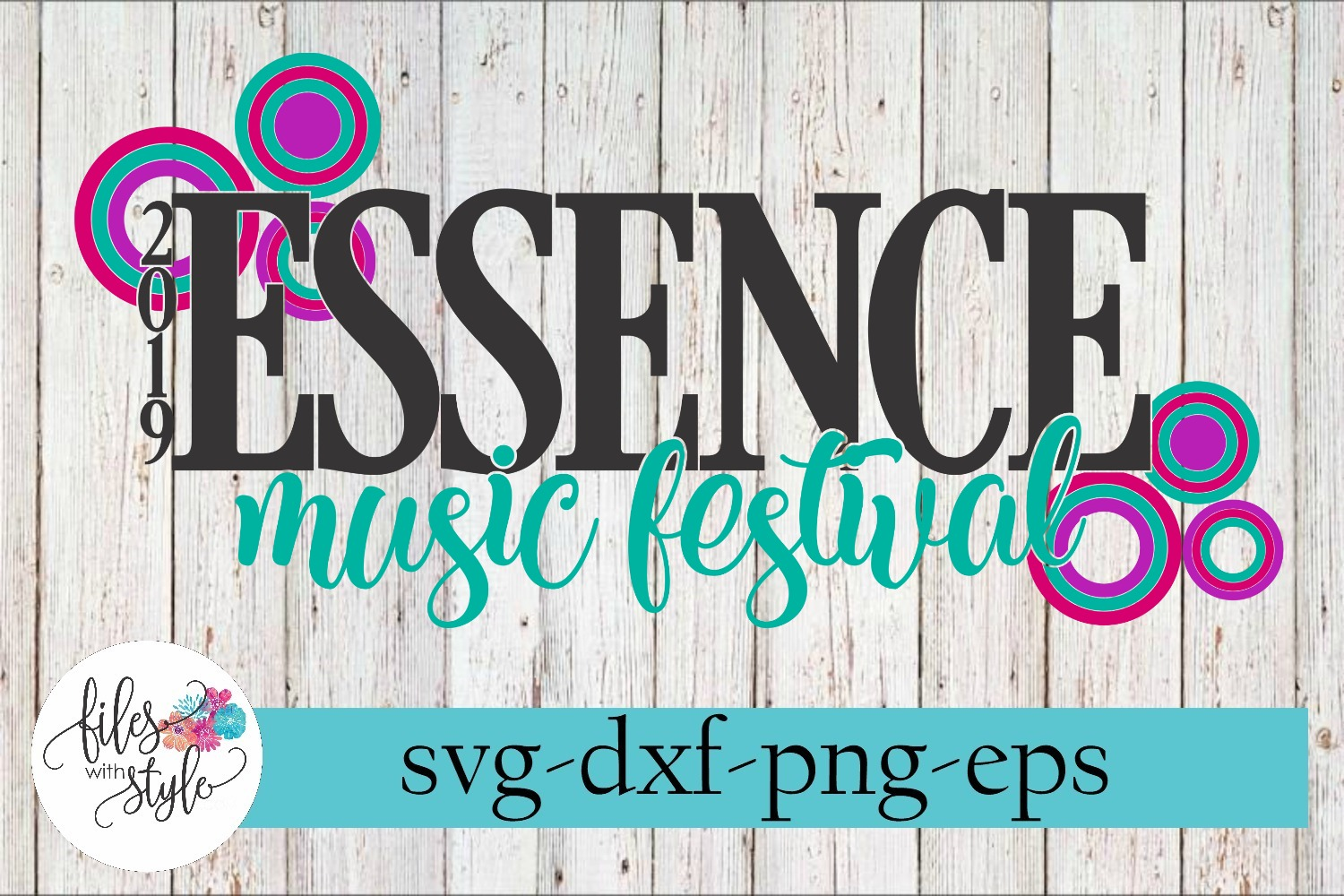 Essence Music Festival 2019 New Orleans Rap SVG Cutting File example image 1