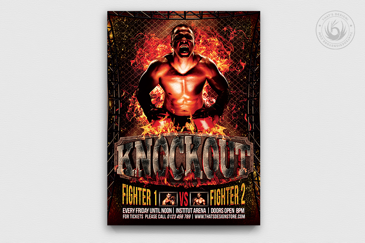 Fight Night Flyer Template V2 example image 1