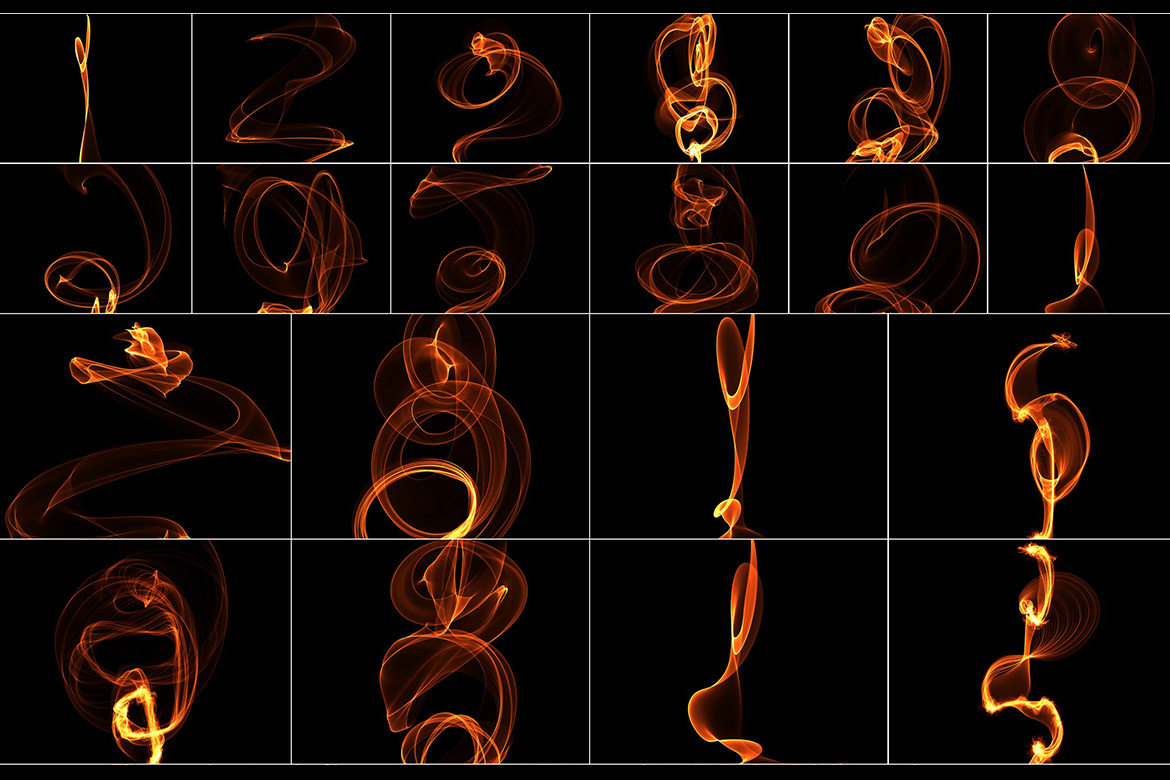 75 Abstract Fire Overlays Vol. 2 example image 4