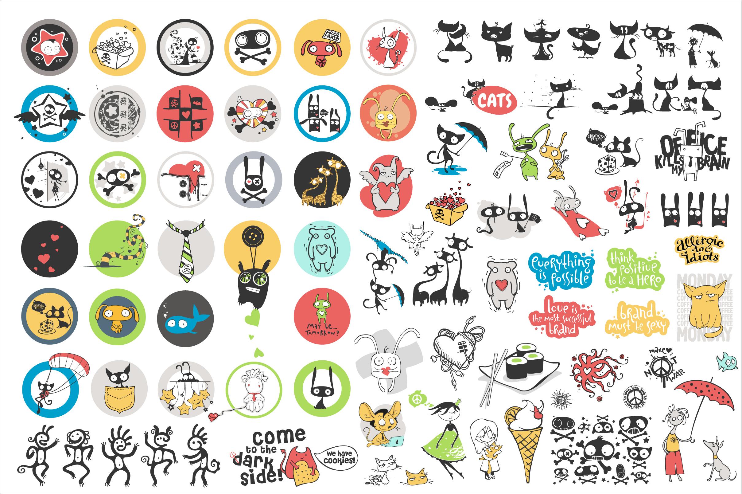 Vector Cartoon Bundle example image 2