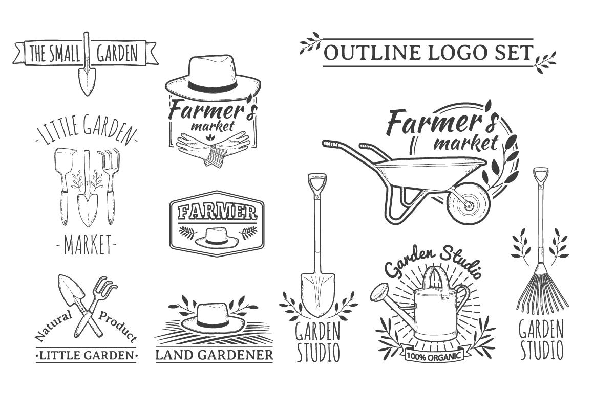 Garden/Farm icon and logo set example image 5