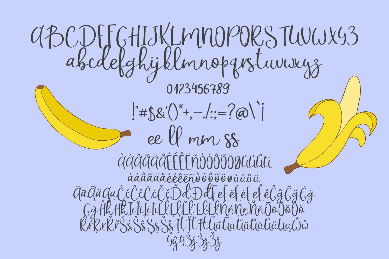 Banana Milshake Font Duo example image 2